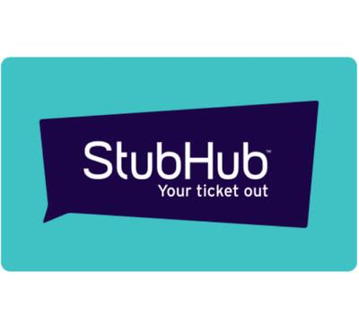 $100 StubHub gift card for $90 + email delivery @ eBay