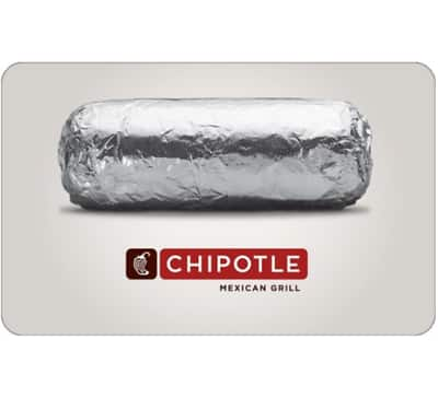 Buy a $25 Chipotle Gift Card, get an add'l $5 (1 Card) - Fast Email Delivery @ eBay