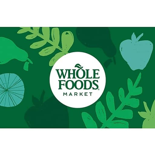 $100 whole foods market gift card for $90 + email delivery @ Staples