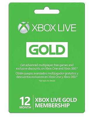 Microsoft Xbox LIVE 12 Month Gold Membership for Xbox 360 / XBOX ONE for $44.99 + FS @ eBay