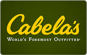 $100 Cabela's GC for $83 + email delivery @ ppdg
