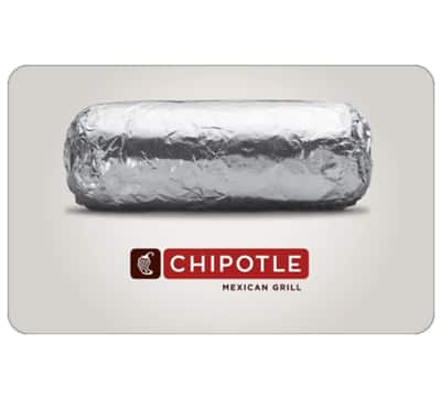 $50 Chipotle or TGI Fridays GC for $40 + email delivery @ eBay
