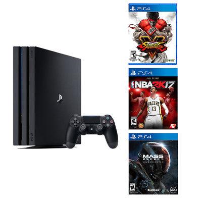 PlayStation 4 Pro 1TB Console+Street Fighter V+NBA 2K17+Mass Effect Andromeda for $399.99 + FS Newegg via eBay
