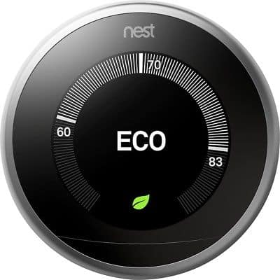 New Nest 3rd Generation Learning Stainless Steel Programmable Thermostat for $155.99 w/20% off coupon code + FS @ eBay