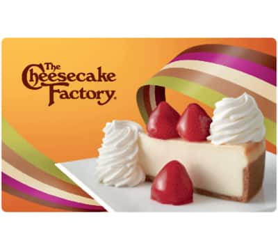 $100 Cheesecake Factory Gift Card for $90 - Fast Email delivery @ eBay