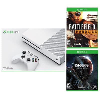 500gb Xbox One S Console W Battlefield Hardline Mass Effect