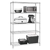 "Target Deal: 72""Hx48""Wx18""D Chrome 5 Tier Shelving Unit $41.99 B&M or 48.99 Store Pick Up at Target"