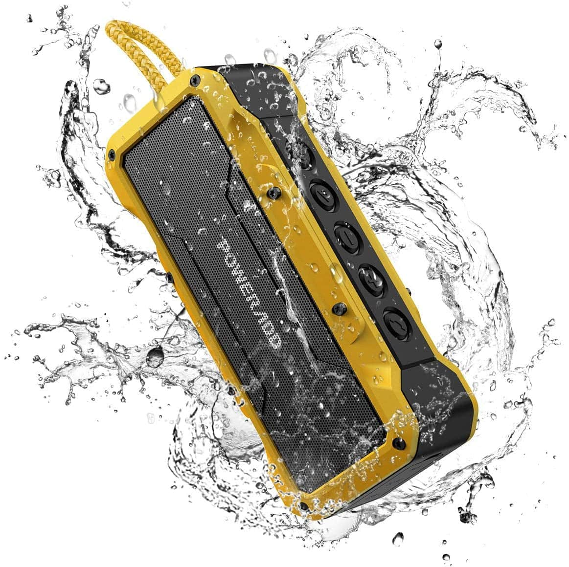 $16.99 with coupon for prime members: POWERADD MusicFly II 36W Portable IPX7 Waterproof Bluetooth Speaker (Yellow)H