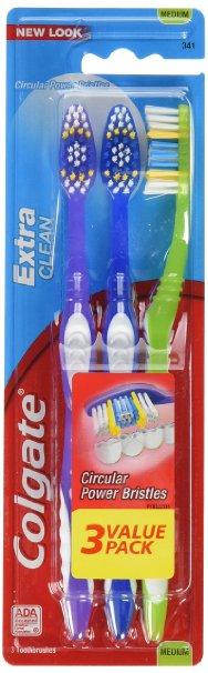 Colgate Extra Clean Toothbrush, Medium, 3 Count $1.62 FSSS