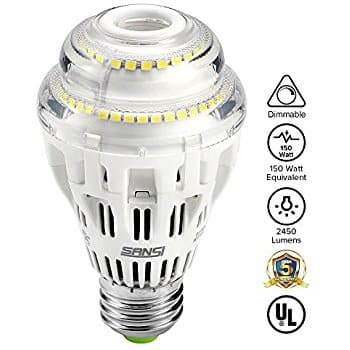 Sansi 15W A19 Dimmable LED Omni-directional Light Bulb (5000K Daylight White, 2000 Lumens) - $12+FS