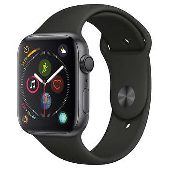 Apple Watch Series 4 GPS with Black Sport Band - 44mm - Space Gray $379.99