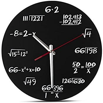 Math Wall Clock - $9.57 - 40% OFF @ Amazon