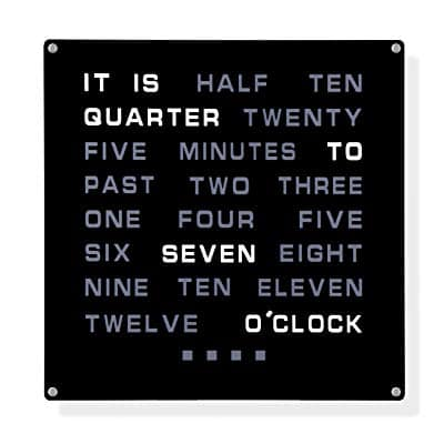 Prime Day: Word Clock - Displays Time As Text - $60-$90, After 25% Off @Amazon.com