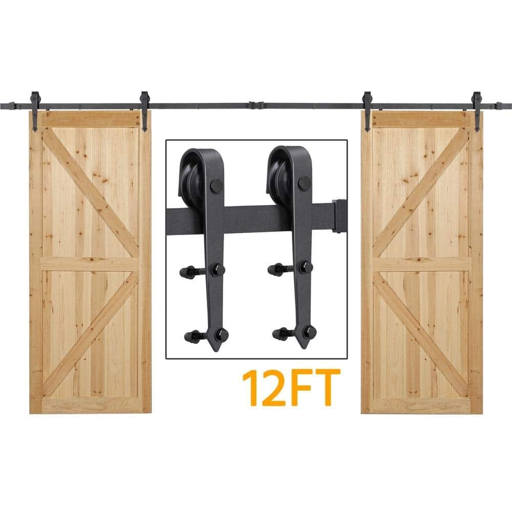 Yaheetech 12ft Sliding Barn Hardware for Double Doors (Limited time deal 67.99+Free Shipping) $67.99