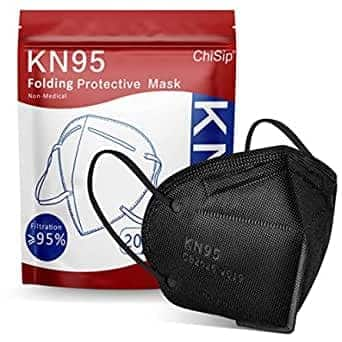 20-pack ChiSip KN95 Face Masks (black) $3.50 + Free Shipping w/ Prime or $25+
