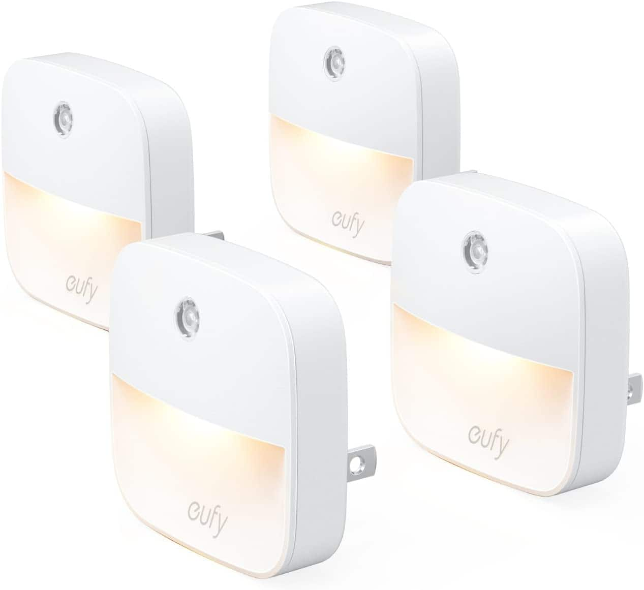 Amazon Prime Members: 4-Pack eufy by Anker Lumi Plug-in Night Light (Warm White LED) $10.30, 3-Pack eufy by Anker Stick-On Night Light $12.99 + Free Shipping $10.99