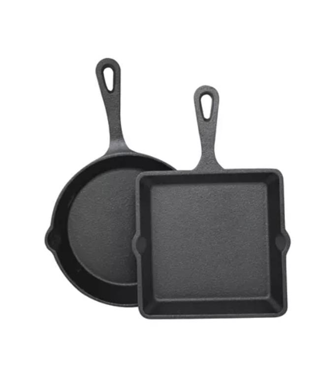 2-Piece Sedona Cast Iron Mini Skillet & Griddle Set $9.99 + 6% SD Cashback + Free Store Pickup at Macy's or $25+