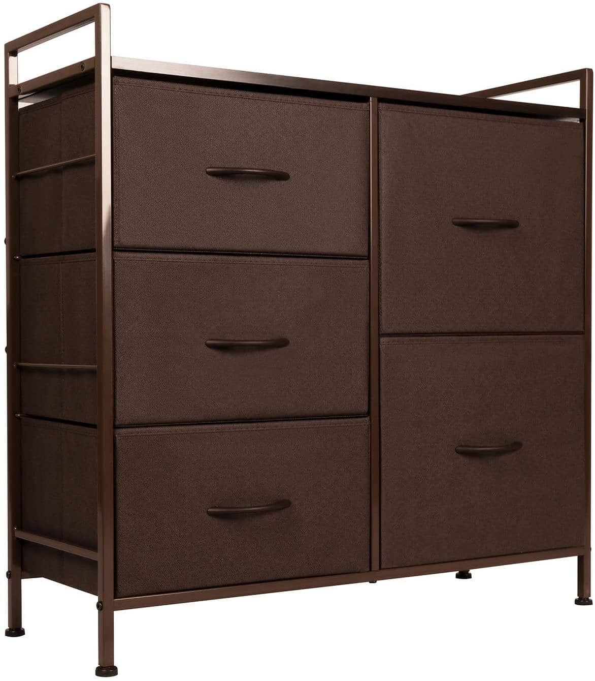 Dresser w/ 5 Drawers Fabric Storage Tower (Brown) for $49.99 + Free Shipping