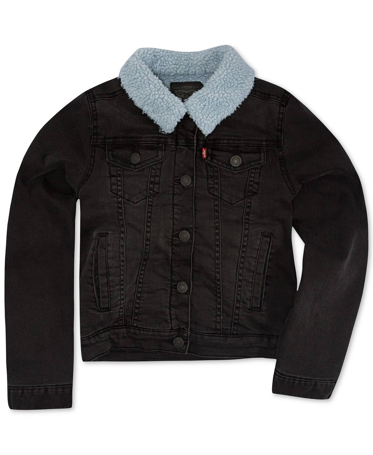 6f957d57 Girls Jackets: Levi's Faux Sherpa Denim Jacket (sizes 2T, 3T, 4,5,6)  $13.60, Ideology Active Jacket $10 & More + free store pickup at Macys or  FS on $75+