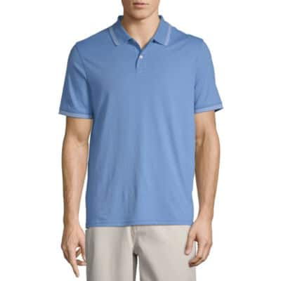 St. John's Bay Men's Short Sleeve Polo Shirt (various colors) $5 + Free Store Pick-up at JCPenney