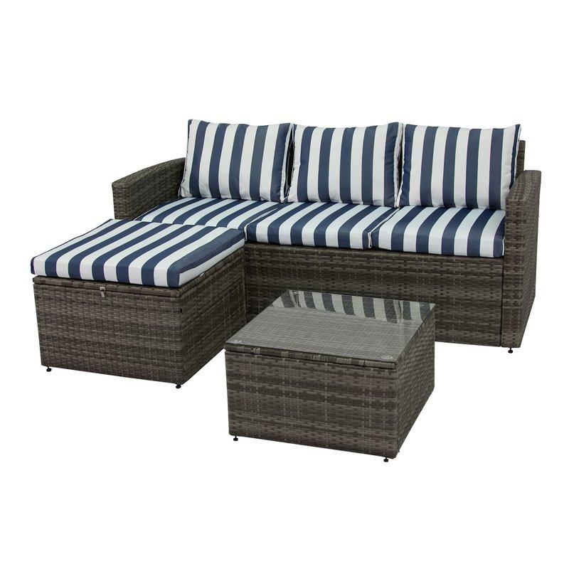 Outdoor Patio Seating: Arlington 3-Piece Rattan Set $340, Roxanna 4-Piece Set $158 & More + Free Shipping