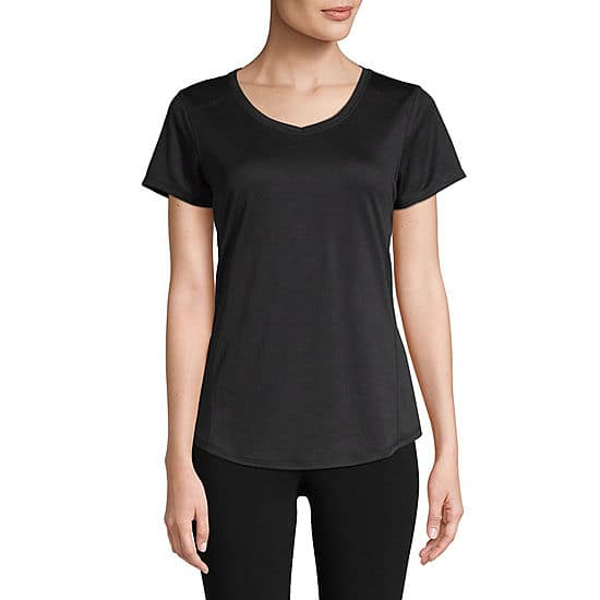 43b810f99bc85 JCPenney: St. John's Bay Women's Active V-Neck T-Shirt (various colors)  $2.10 + Free Store Pick-up