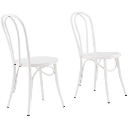 Peachy Walmart Better Homes Gardens 2 Ct Arabella Chairs White 47 04 23 52 Each Large Galvanized Metal Round Stand 7 More Free Store Pick Up Machost Co Dining Chair Design Ideas Machostcouk