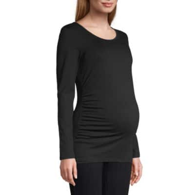 JCPenney Maternity Apparel: Belle Sky Long Sleeve Scoop Tee $3.35, Belle Sky Long Sleeve Dress $4.75 & More + Free Store Pick-Up