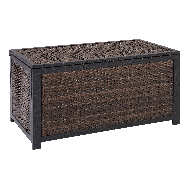 Mainstays Cassel Outdoor Wicker Deck Storage Box (espresso) $69 + Free Shipping