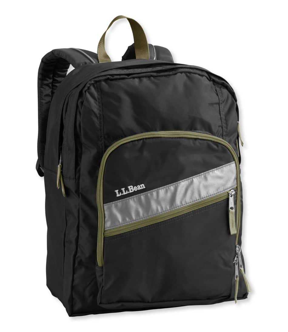 L.L. Bean Deluxe Book Backpack (black, royal blue) $18 + Free Shipping