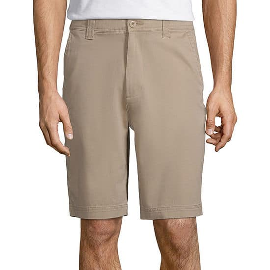 JCPenney: St. John's Bay Men's Stretch Chino Shorts (various colors) $7 + Free Store Pick-Up