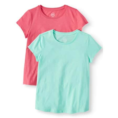 Wonder Nation Girls': Crew Neck T-Shirts 2 for $5, Shorts and Tank Set 2 for $6 & More + FS on $35+