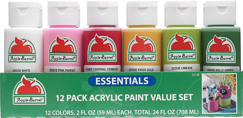 Walmart: Apple Barrel Essentials Color Paint Set 12 for $5 ($0.42 each) + Free Store Pick-Up