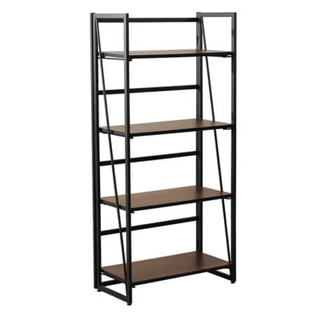 4-Tier Metal and Wood Industrial Bookshelf (49.21L x 23.62W x 11.81D Inches) $70 + Free Shipping