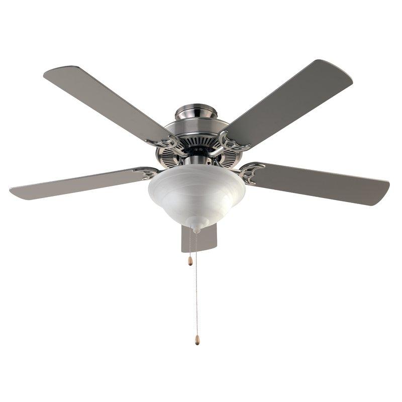 Hamlett 5-Blade Ceiling Fan w/ light kit (brushed nickel) $57.47 Free Shipping