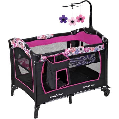 Baby Trend Nursery Center Playard (floral garden) $49, Baby Trend EZ Ride 5 Travel System (floral garden) $108.70 + Free Store Pick-Up or FS on $35+