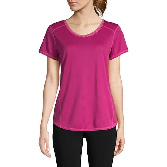 JCPenney: St. John's Bay Women's: Active T-Shirts 5 for $15 ($3 each), Tank Tops 5 for $15 ($3 each) + Free Store Pick-Up