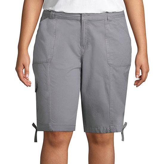 JCPenney: St. John's Bay Plus Women's: Cargo Bermuda Shorts $5.17, Chino Shorts $5.17 + Free Store Pick-Up