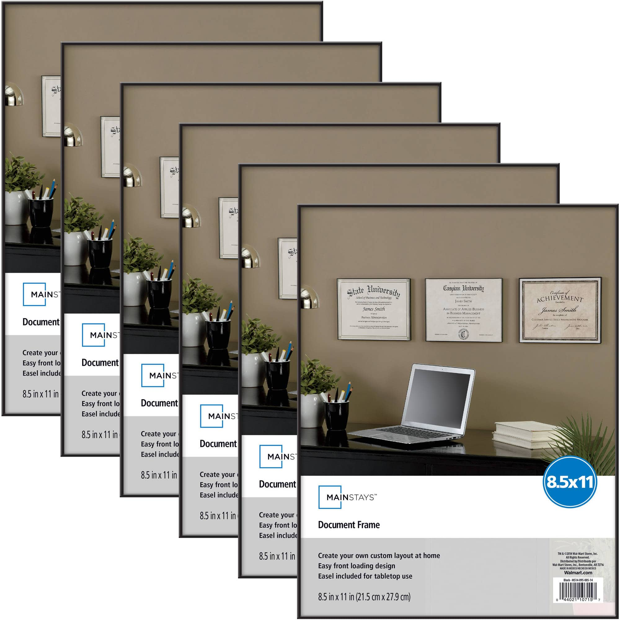 """Walmart: Mainstays 8.5"""" x 11"""" Document Format Picture Frames 6 for $11 ($1.83 each) + Free Store Pick-Up"""