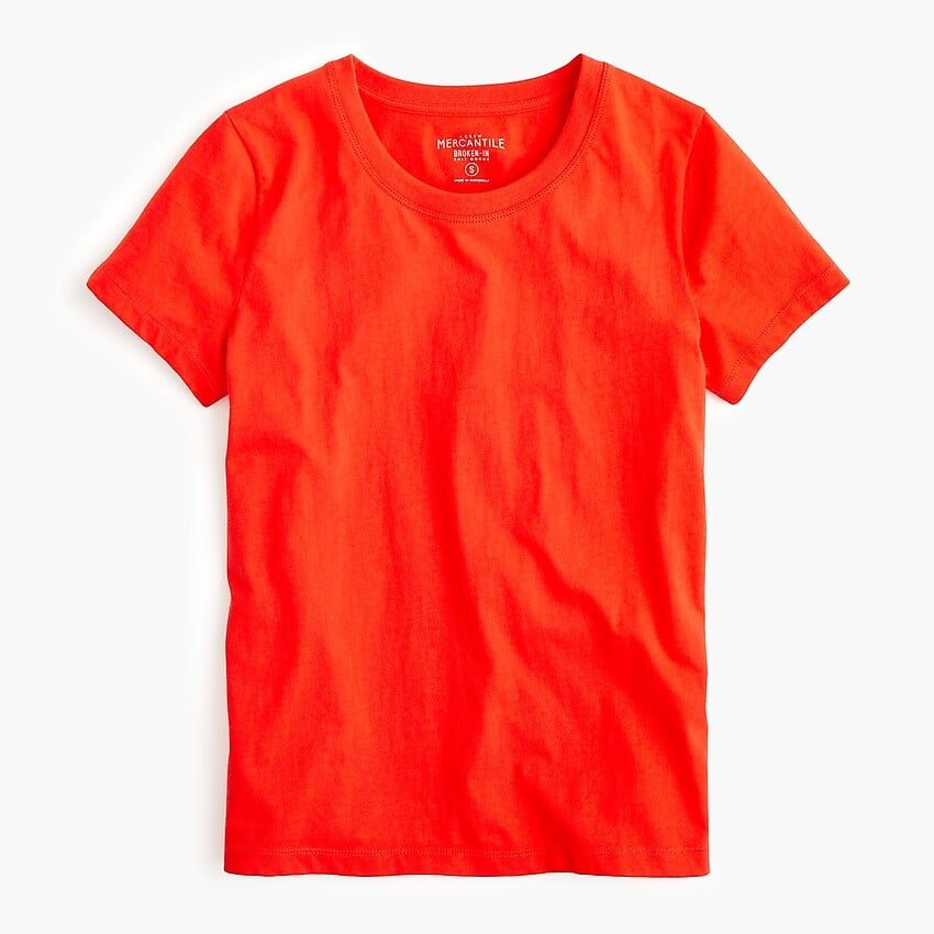 J. Crew 50% Off Sale Styles, 40% Off Regular Priced Items: Essential T-Shirt $2.97, Wide Leg Cropped Chambray Pant $12.74 & More + Free Shipping