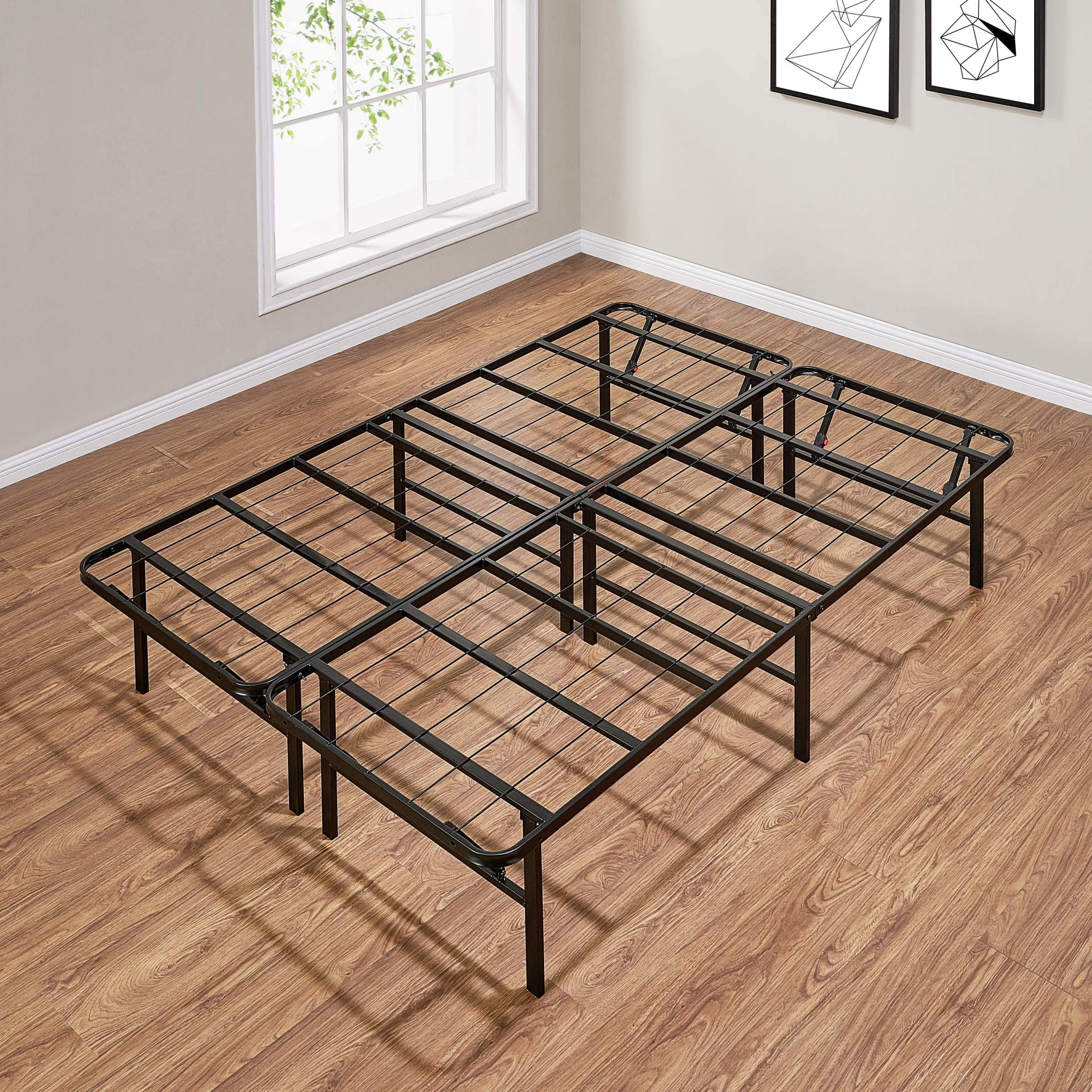 """Mainstays 14"""" High Profile Foldable Steel Bed Frame (full size) $55 + Free Shipping"""