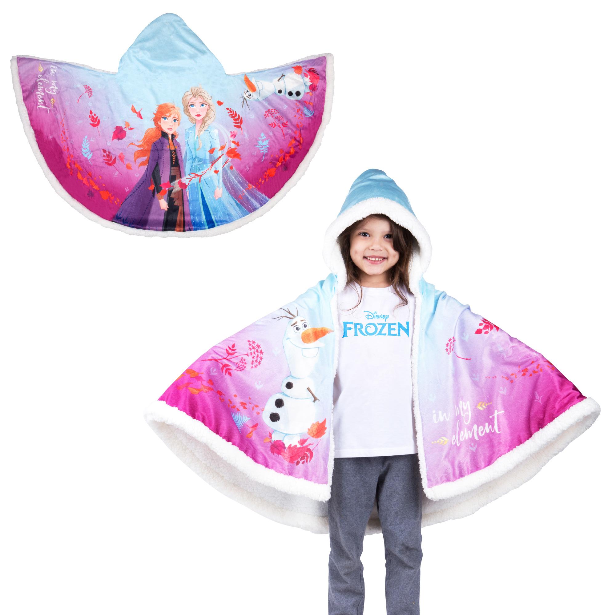 Snuggle Wrap Hoodie Blankets: Disney's Frozen 2 Olaf, Disney's Princesses, Batman & More + Free Store Pickup at Walmart $14.88
