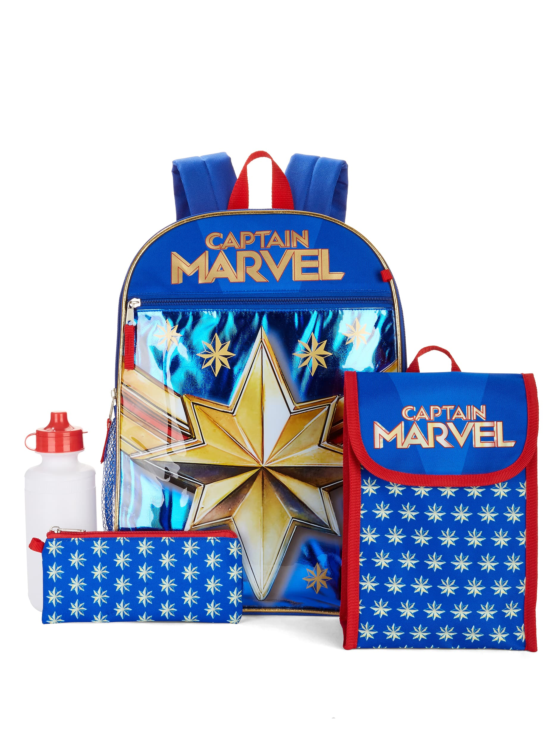 5-Piece Captain Marvel Backpack Set $8.50 & More + Free Store Pickup at Walmart