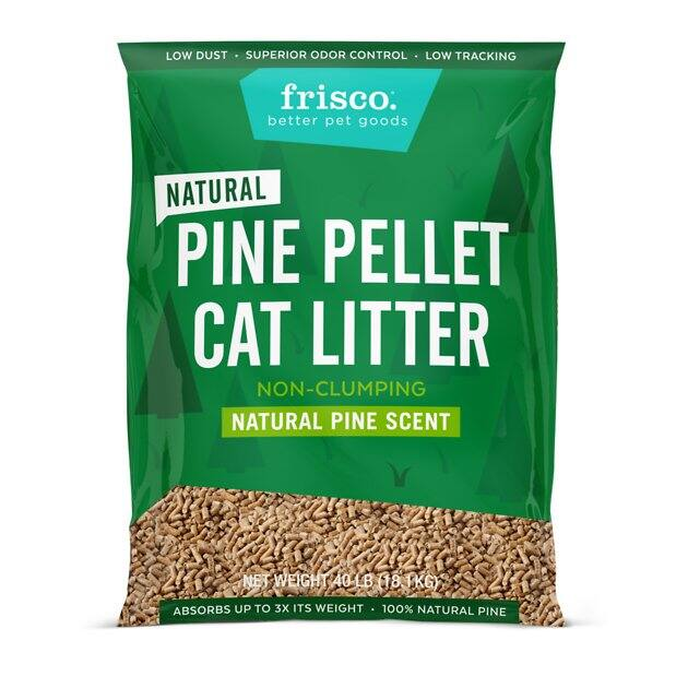 New Chewy Autoship Customers: 40-lb Frisco Pine Pellet Cat Litter 3 for $19.11 ($6.37 each) + Free Shipping