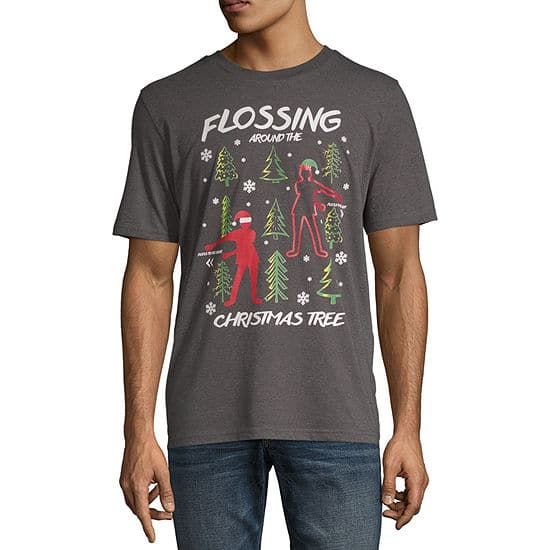 Select Men's Holiday Graphic Tees $3.75 + Free Store Pickup at JCPenney