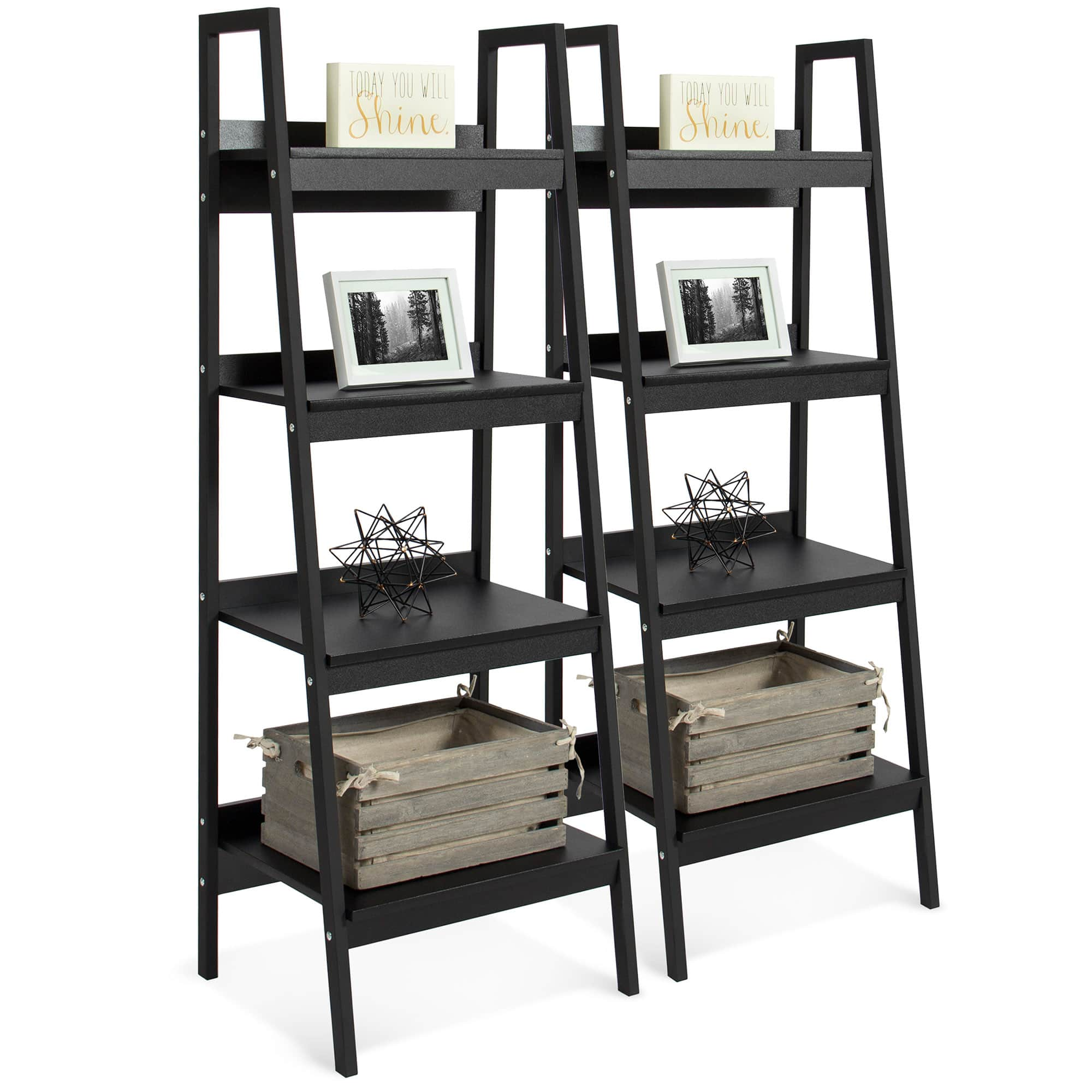 """Wooden Ladder Bookcase (62.75""""x23.50""""x4"""") 2 for $104 ($52 each) + Free Shipping"""