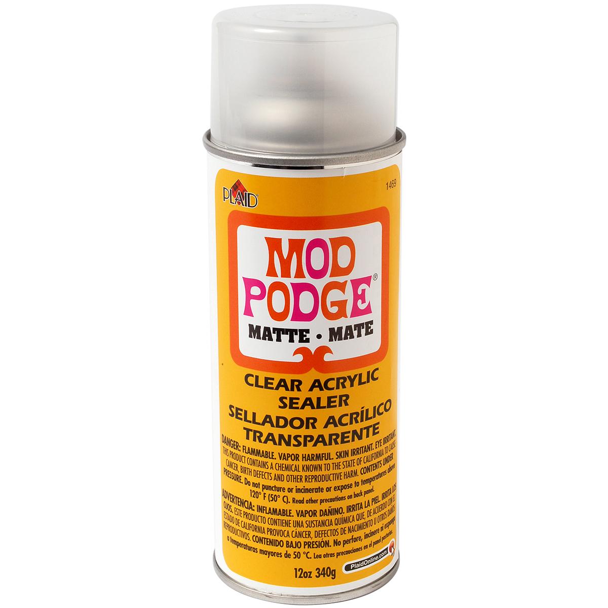 12-oz Plaid Mod Podge Clear Acrylic Sealer (matte) $6.88 + Free Store Pickup at Walmart or FS w/ Prime
