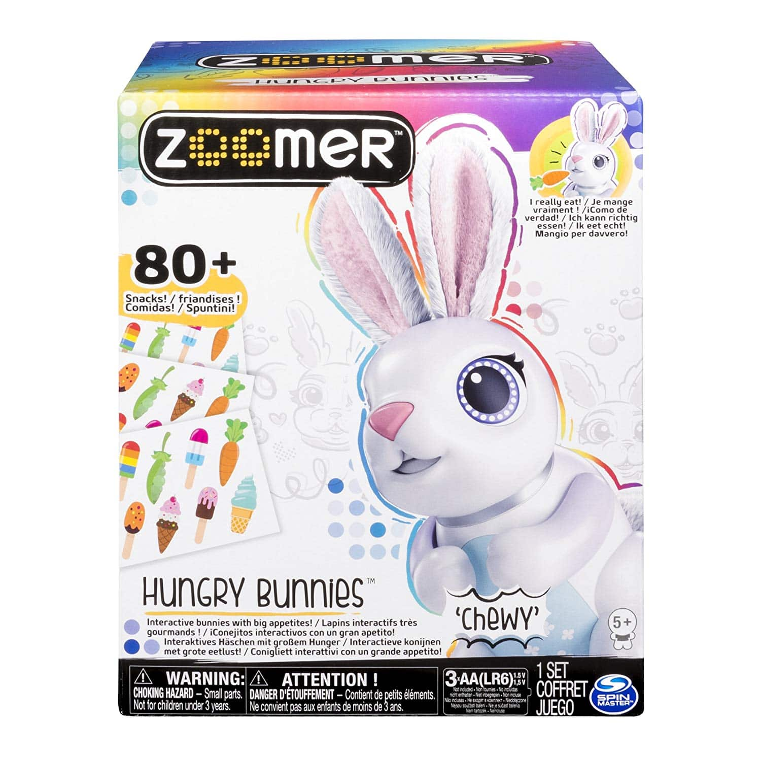Zoomer Hungry Bunnies: Interactive Robotic Rabbit That Eats Toy $11.53 + Free Shipping