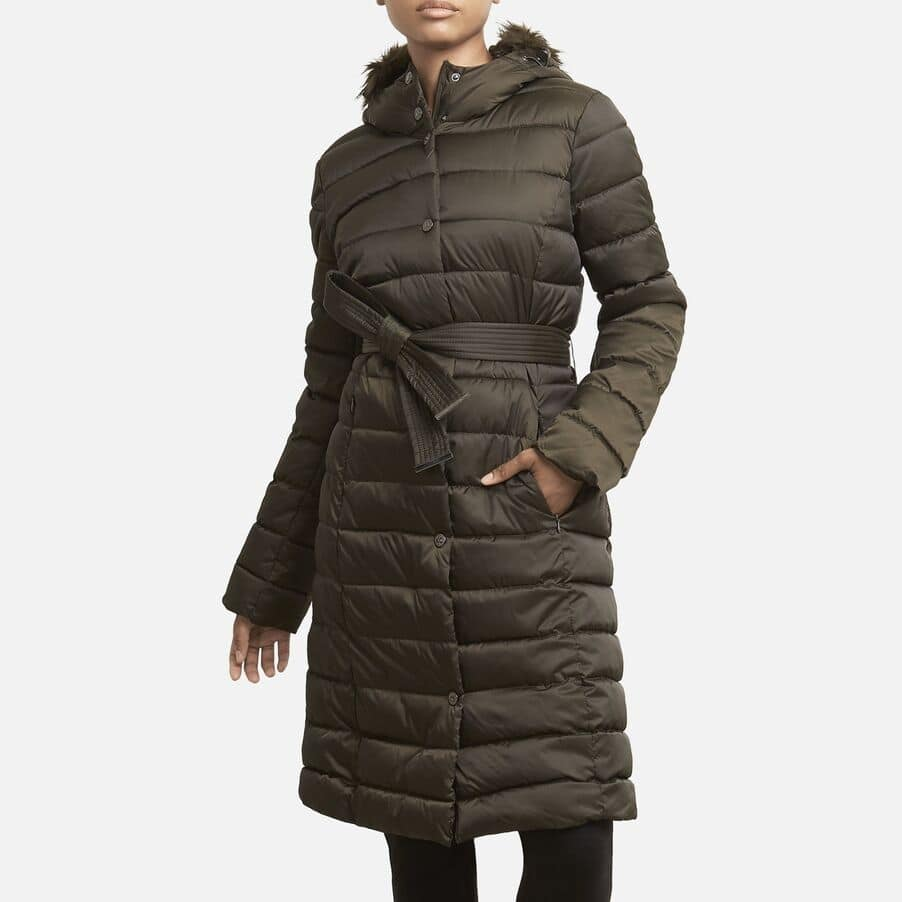 Kenneth Cole Women's Mid-Length Matte Satin Puffer Coat $51.09 & More + Free Shipping on $50 w/ Shop Runner
