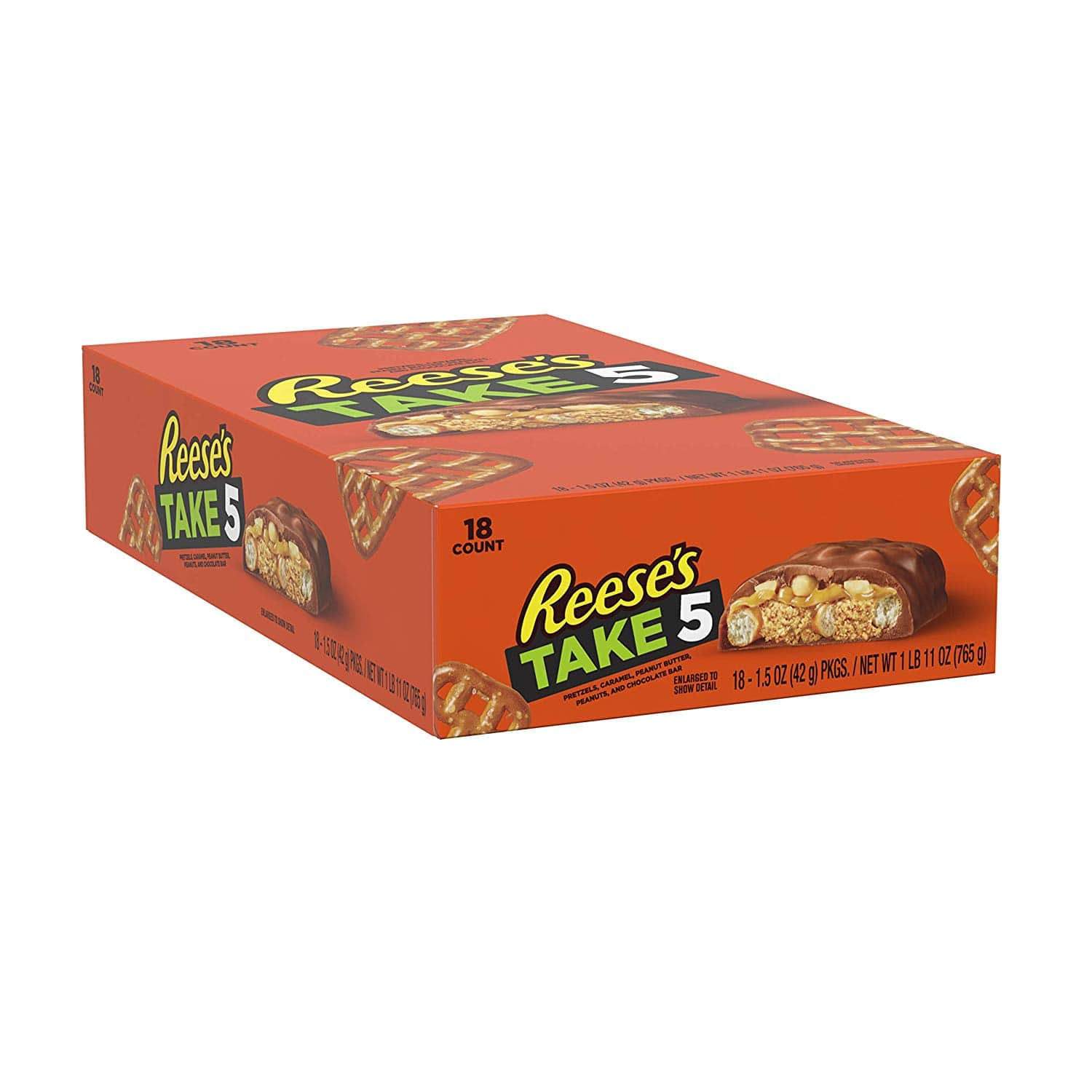 18-Count 1.5oz. Reese's TAKE 5 Peanut Butter Milk Chocolate Candy Bars